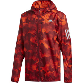 adidas Own The Run Light Jacket Men active orange/active marine/collegiate burgundy